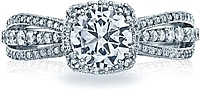 Tacori Triple String Pave Diamond Engagement Ring