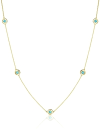 Tacori Yellow Gold Turquoise Necklace