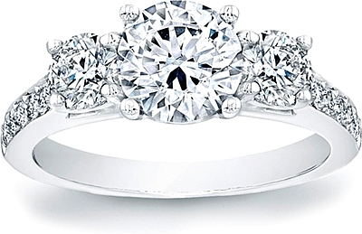 This Image Shows The Setting With A 1 25ct Round Brilliant Cut Center Diamond