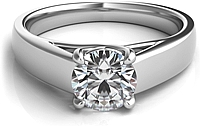 Trellis Diamond Solitaire Engagement Ring