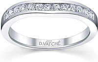 Vatche  Fitted Channel Set Wedding Band
