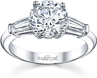 Vatche Baguette Engagement Ring .50ct tw