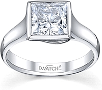 Vatche Bezel Solitaire Diamond Engagement Ring