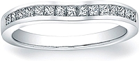 Vatche Channel-Set Princess Cut Contoured Wedding Band.