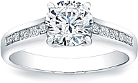 Vatche Channel Set X Prong Engagement Ring