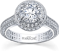 Vatche Cotillion Collection .88ct Pave Setting