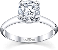 Vatche Four Prong Diamond Engagement Ring