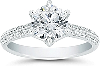 Vatche Pave Diamond 'Swan' Engagement Ring
