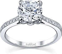 Vatche Pave Set Diamond Engagement Ring