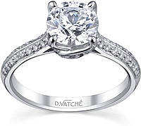 Vatche Sidestone Diamond Engagement Ring