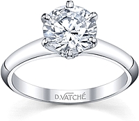 Vatche Six Prong Diamond Engagement Ring