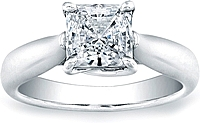 Vatche Solitaire Tapered X Prong Princess Cut Engagement Ring