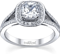 Vatche Split Shank Diamond Engagement Ring