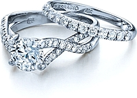 Verragio Crisscross Diamond Engagement Ring