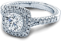 Verragio Double Halo Split Shank Engagement Ring