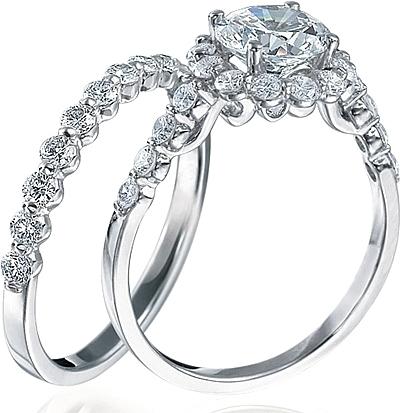 Halo Verragio engagement rings