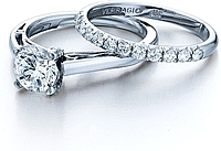 Verragio Engagement Ring with Pave Diamond Detail
