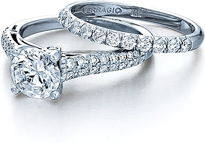 This image shows the setting with a 1.25ct round brilliant cut center diamond. The setting can be ordered to accommodate any shape/size diamond listed in the setting details section below. The matching wedding band is sold separately.