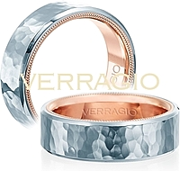 Verragio Hammered Men's Wedding Band