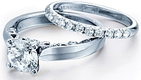 Verragio Micro Pave Diamond Engagement Ring
