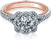 Verragio Pave Diamond Engagement Ring