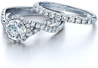 Verragio Pave Set Crisscross Diamond Engagement Ring Eng 0384