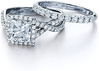 Verragio Pave Set Crisscross Engagement Ring