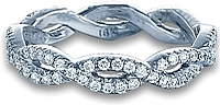 Verragio Pave Twist Diamond Wedding Band