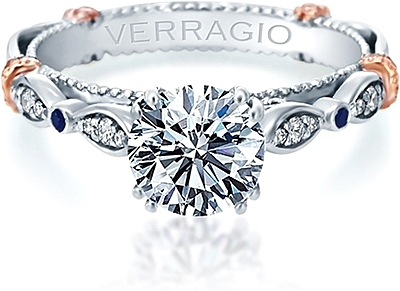 Verragio Prong Set Diamond Engagement Ring With Sapphire Accents Cl Dl100