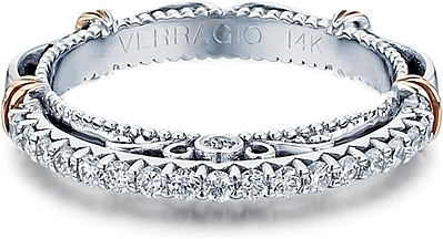 Verragio Wedding Bands | Verragio Prong Set Diamond Wedding Band D121w