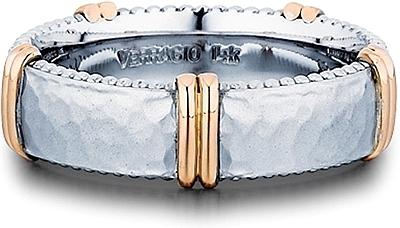 Verragio Rose Gold Hammered Men S Wedding Band Mv 6n17hm