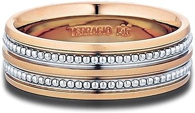 Verragio Rose Gold Men S Wedding Band Mv 7n03
