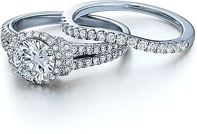 Verragio Split Shank Pave Diamond Engagement Ring Eng 0381