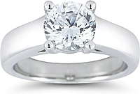 Wide Shank Solitaire Engagement Ring